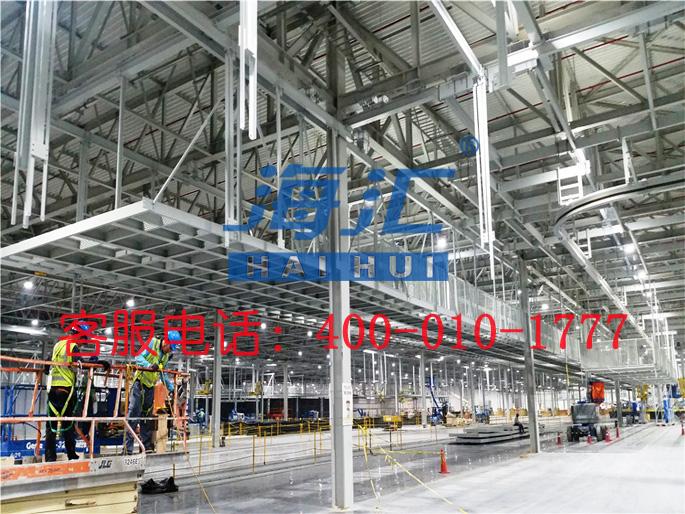 2200吨起亚墨西哥汽车总装厂房钢结构项目